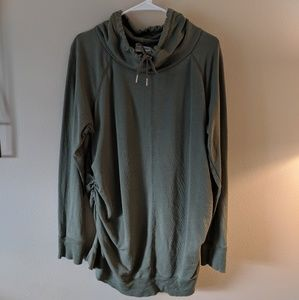 Cowl Neck maternity sweatshirt